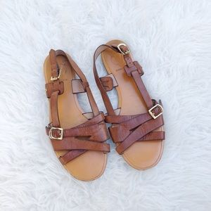 Vince Camuto VC Signature Brown Leather Sandals